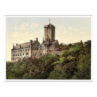 Wartburg, from the east, Thuringia, Germany rare P Postcard