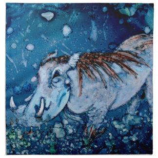 Warthog azul servilletas de papel