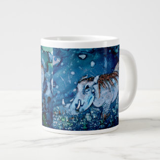 Warthog azul taza grande