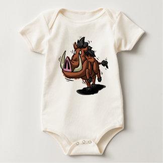 Warthog Babygrow Mamelucos