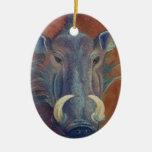 Warthog Ceramic Ornament