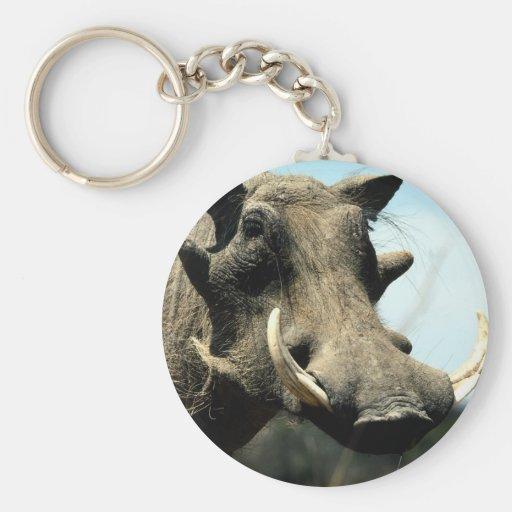 Warthog Close-Up Keychain