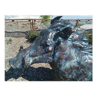 Warthog de bronce postal