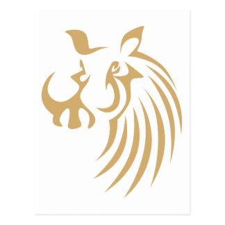 Warthog en estilo del dibujo del chasquido tarjeta postal