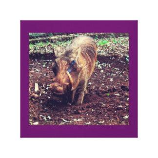 Warthog en Kenia Impresión En Lona Estirada
