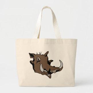 Warthog Head Large Tote Bag