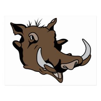 Warthog Head Post Card