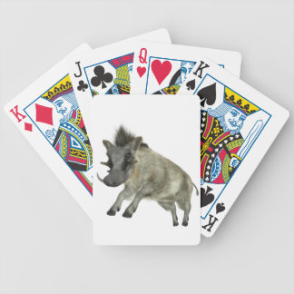 Warthog Jumping to Right Bicycle Playing Cards