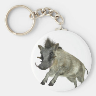 Warthog Jumping to Right Keychain