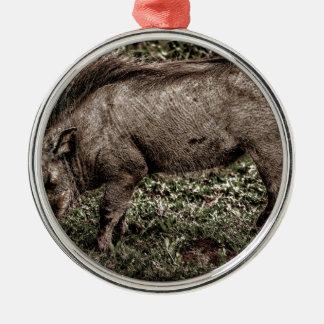 Warthog. Metal Ornament