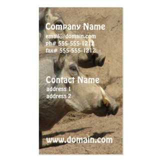 Warthog Pair Business Cards
