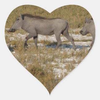 Warthog Parade Tom Wurl Heart Sticker
