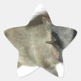 Warthog Running Left Star Sticker
