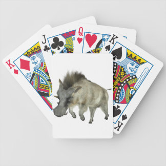 Warthog Running to Right Bicycle Playing Cards