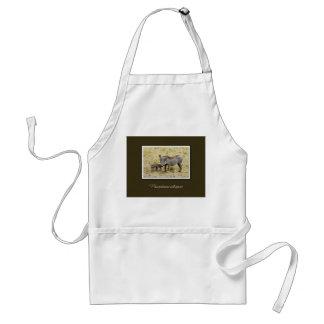 Warthog safari barbecue aprons