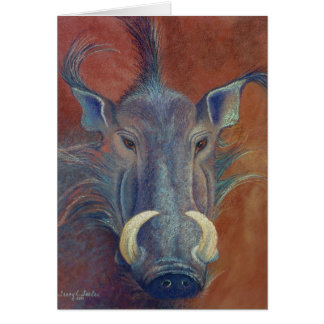 Warthog Stationery Note Card