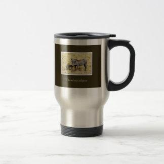 Warthog with piglets safari mugs cups