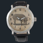 """WARTHOG WRIST WATCH<br><div class=""""desc"""">A photograph of a warthog for that guy you know will love it.</div>"""