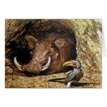 Warthog y tarjeta del Hornbill
