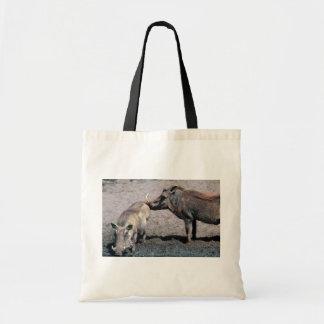 Warthogs - verraco (derecho) y cerda (izquierda) bolsas lienzo