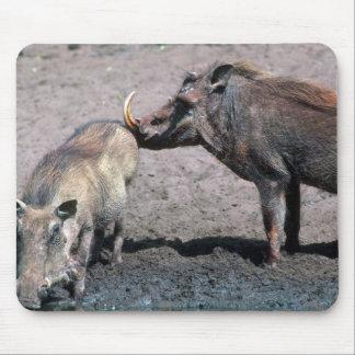 Warthogs - verraco (derecho) y cerda (izquierda) tapete de ratones