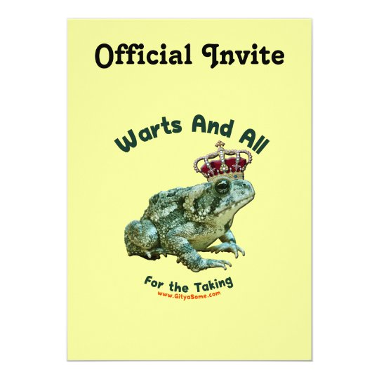 Warts and All Frog Toad Prince Card