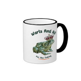 Warts and All Frog Toad Prince Coffee Mugs