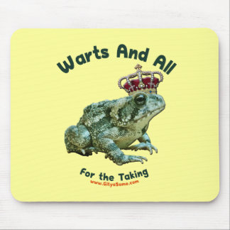 Warts and All Frog Toad Prince Mousepads