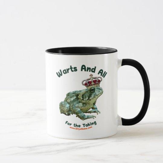 Warts and All Frog Toad Prince Mug