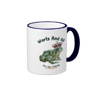 Warts and All Frog Toad Prince Coffee Mug