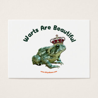 Warts Beautiful Frog Toad Prince Business Card
