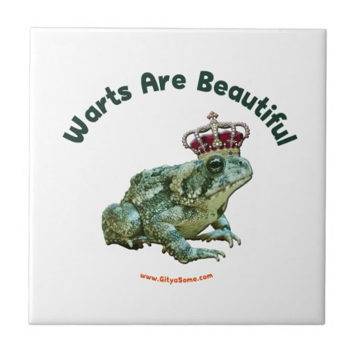 Warts Beautiful Frog Toad Prince Ceramic Tile