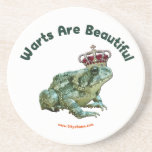 Warts Beautiful Frog Toad Prince Drink Coaster