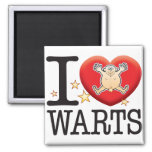 Warts Love Man 2 Inch Square Magnet