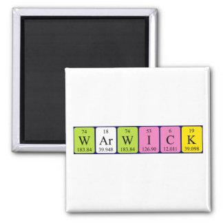 Warwick periodic table name magnet