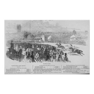 Warwick Races, from 'The Illustrated London Poster