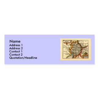 Warwickeshire Warwickshire County Map Business Card Template