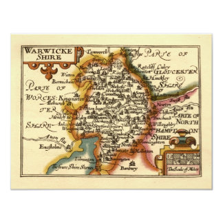 """Warwickeshire"" Warwickshire County Map Card"