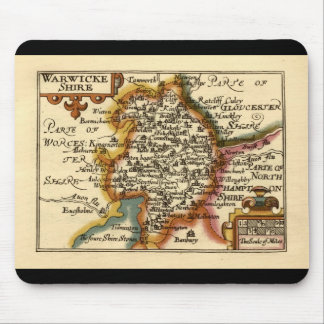 """Warwickeshire"" Warwickshire County Map Mouse Mat"