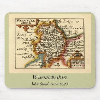 """Warwickeshire"" Warwickshire County Map Mouse Pads"
