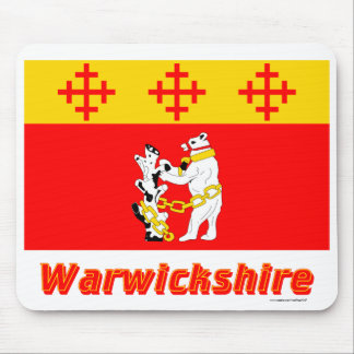 Warwickshire Flag with Name Mouse Pad