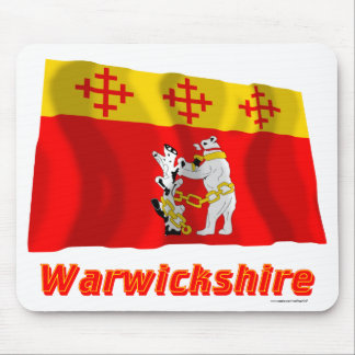 Warwickshire Waving Flag with Name Mousepads