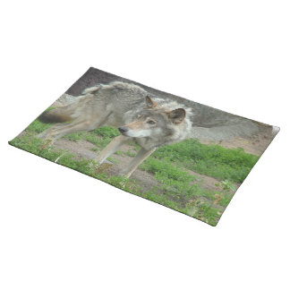 Wary Wolf Placemat Cloth Place Mat