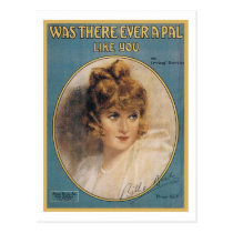 Was There Ever A Pal Like You Vintage Songbook Cov Postcard