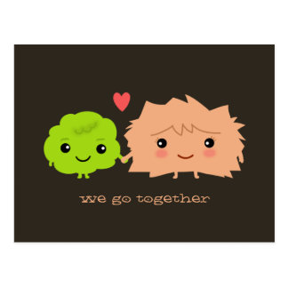 Wasabi and Ginger Go Together - Kawaii Design Postcard