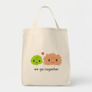 Wasabi and Ginger Love Each Other - Kawaii Design Tote Bag