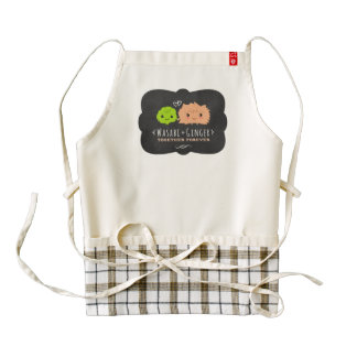 Wasabi and Ginger Together Forever Zazzle HEART Apron