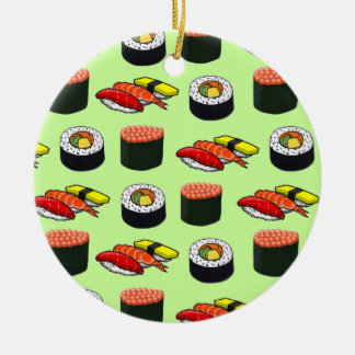 Wasabi Green Sushi Christmas Tree Ornament