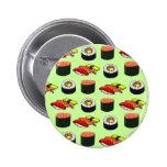 Wasabi Green Sushi Pinback Buttons
