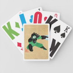 Playing Cards with Hero Wasabi's Plasma Blades design